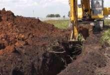 Летний водопровод в Полтавке зарыли