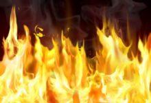 Неподалеку от Великопетровки пожар тушили